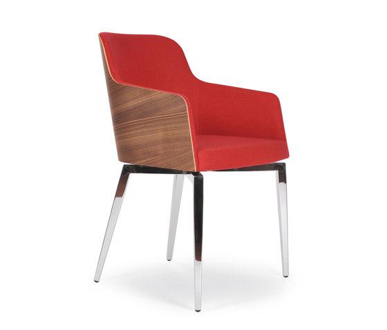 Marlene 200w quadra von Riccardo Rivoli Design | Besucherstühle