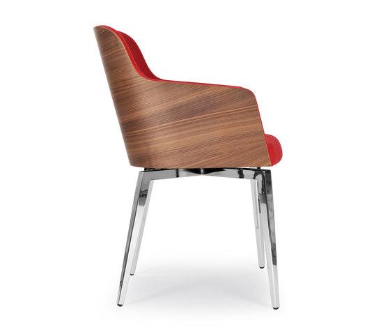 Marlene 200w quadra von Riccardo Rivoli Design | Stühle