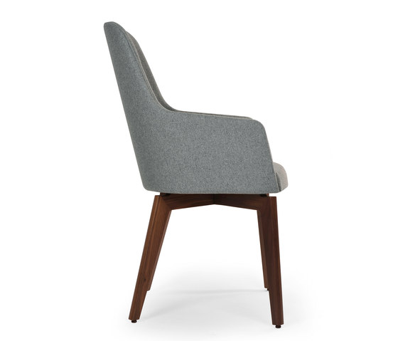 Marlene 210 wood de Riccardo Rivoli Design | Chairs