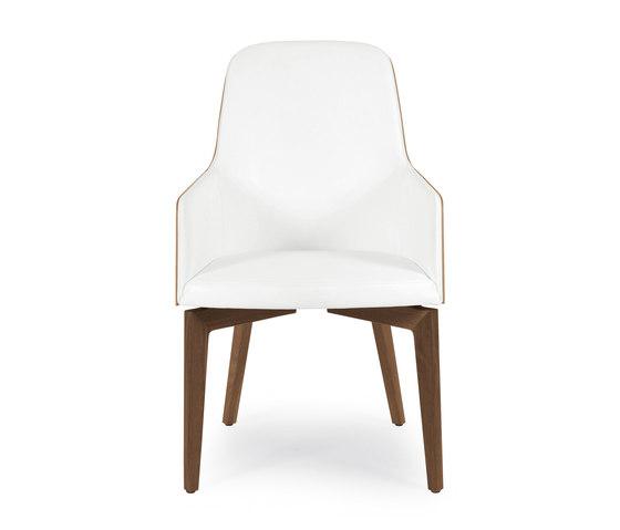 Marlene 210w wood de Riccardo Rivoli Design | Chaises