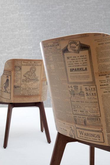 Marlene 200 history wood de Riccardo Rivoli Design | Chaises