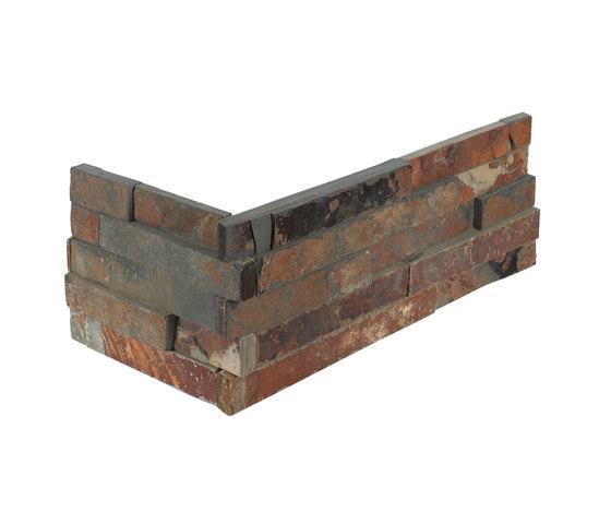 Brick | Oxido Brick Corner by Dune Cerámica | Natural stone tiles