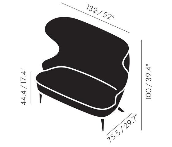Micro Wingback Sofa Copper Leg Hallingdal 65 by Tom Dixon | Sofas