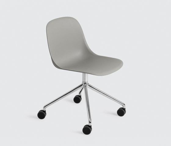 Fiber Side Chair | swivel base with castors de Muuto | Sièges visiteurs / d'appoint