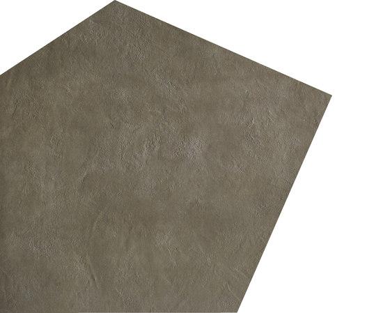 Argilla Dark   material pentagon large de Gigacer   Carrelage céramique