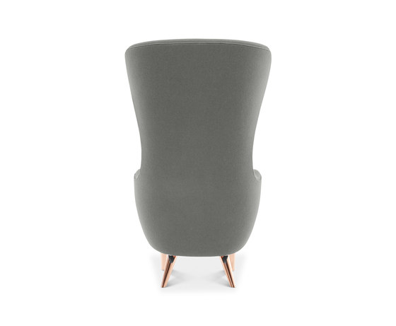 Wingback Chair Copper Leg Hallingdal 65 by Tom Dixon | Armchairs