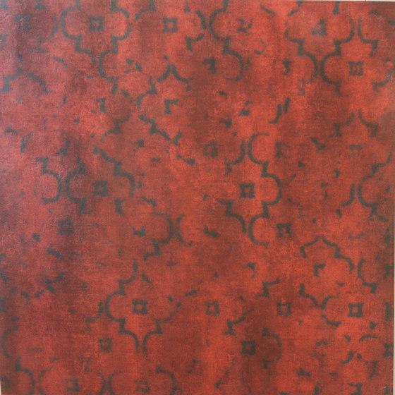 Krea Red Decore A von Gigacer | Keramik Fliesen