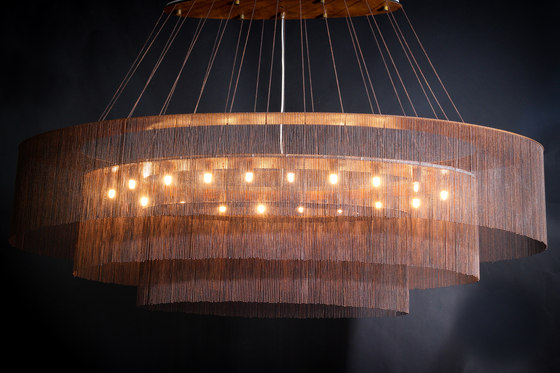 Elliptical 3-Tier - 1600 -  suspended by Willowlamp | Suspended lights