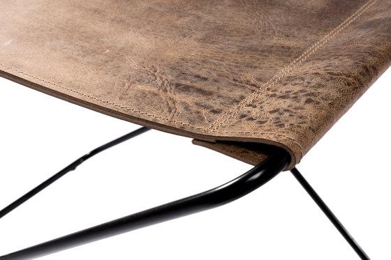 Fußteil Klappbar Vintage Leder di Manufakturplus | Tavolini d'appoggio