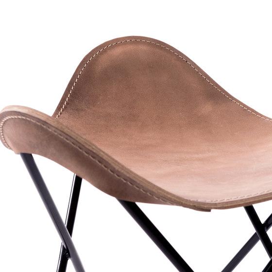 Hardoy | Stool Vintage Leather de Manufakturplus | Tabourets