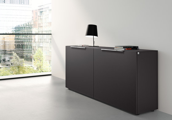 Site sideboard with sliding doors by RENZ | Sideboards