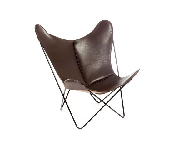 hardoy butterfly chair sattel leder braun lounge chairs from manufakturplus architonic. Black Bedroom Furniture Sets. Home Design Ideas