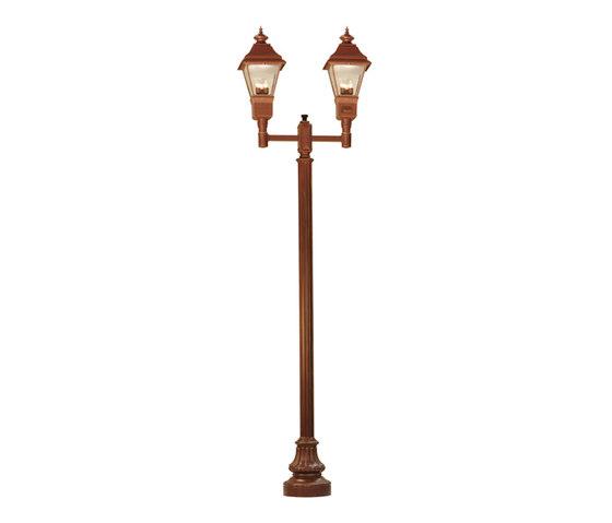 Cheswick 2 Lantern Street Lamp de 2nd Ave Lighting | Éclairage public