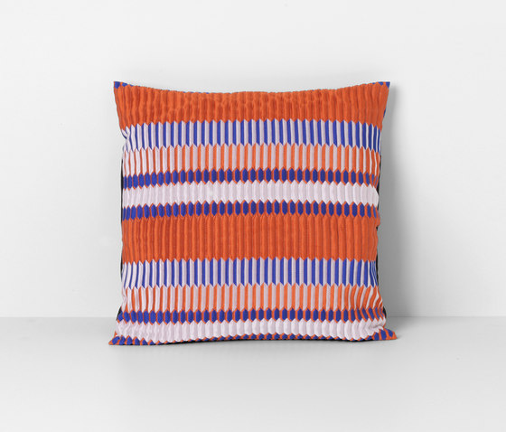 Salon Pleat Rust Cushion de ferm LIVING | Coussins