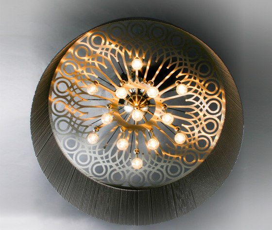Ngoma Drum - 700 - ceiling mount by Willowlamp | Ceiling lights