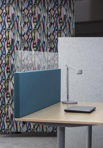 AGORAdesk | Akustische Einhausung mit Plexiglasaufsatz de AGORAphil | Separadores de mesa