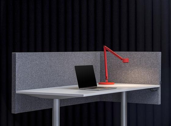 AGORAdesk | Akustische seitliche Tischabschirmung by AGORAphil | Table dividers