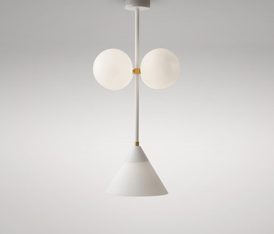 Axis cone and globes - glass by Atelier Areti | Suspended lights