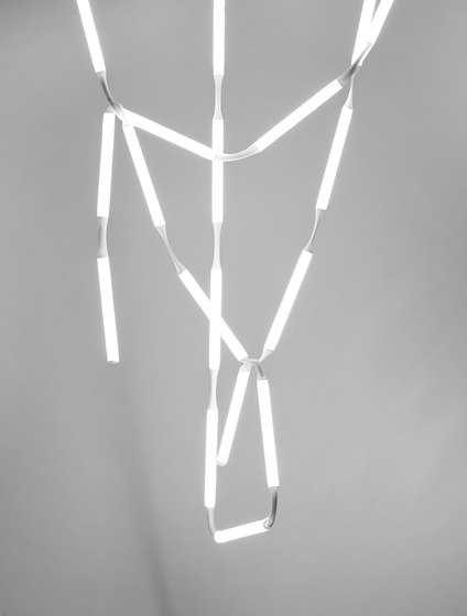 Rope Light Collection - Rope Light Chandelier di AKTTEM | Lampade sospensione