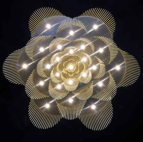 Rose - 700 - ceiling mounted - straight by Willowlamp | Ceiling lights