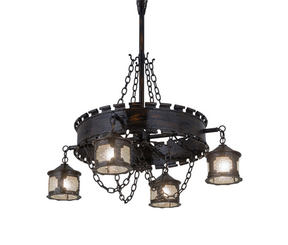 Antique Gothic Reproduction 4 Lantern Chandelier by 2nd Ave Lighting | Suspended lights