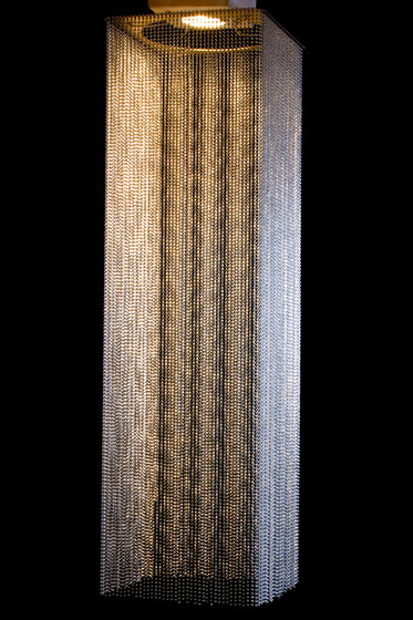 Custom Square Extruded Shade by Willowlamp | Suspended lights