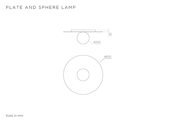 Plate And Sphere Ceiling by Atelier Areti | Ceiling lights