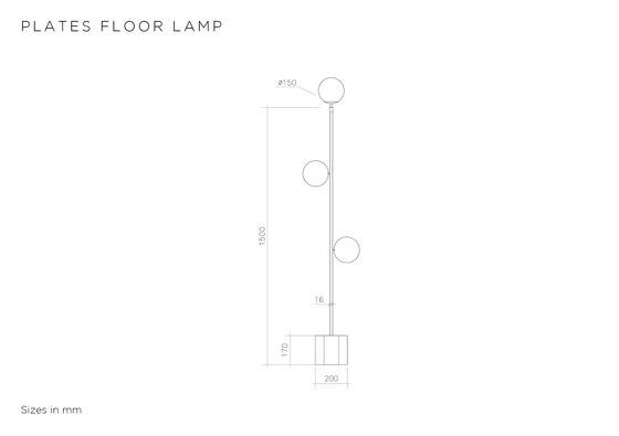 Plates Floor de Atelier Areti | Luminaires sur pied