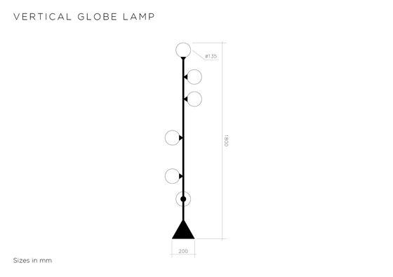 Vertical Globe de Atelier Areti | Lámparas de pie