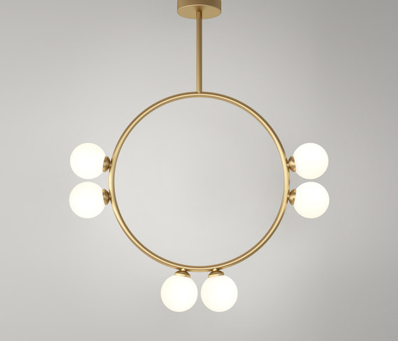 Circle Pendant Globes 06 by Atelier Areti | Suspended lights