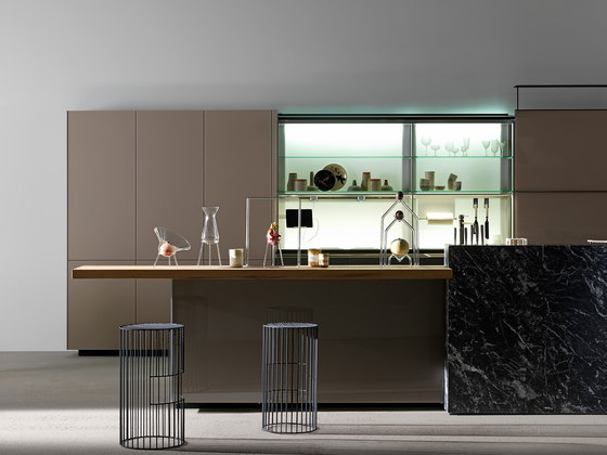 Artematica vitrum lucido terra fitted kitchens from for Cucine valcucine