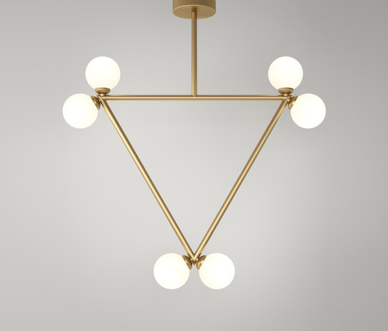 Triangle pendant globes 06 by Atelier Areti | Suspended lights