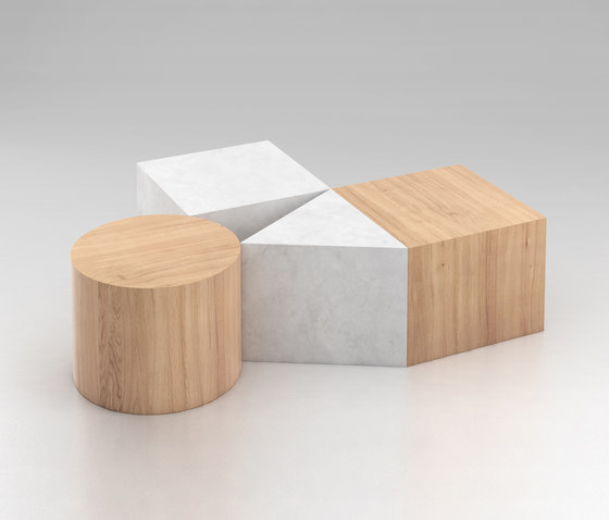Circle Square Triangle de Atelier Areti | Coffee tables
