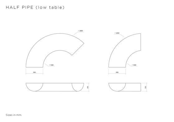 Half Pipe von Atelier Areti | Couchtische
