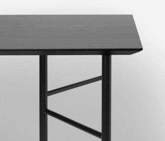 Mingle Table Top - Black Veneer - 135 cm by ferm LIVING | Materials