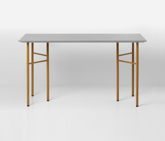 Mingle Table Top - Light Grey Linoleum - 135 cm by ferm LIVING | Materials