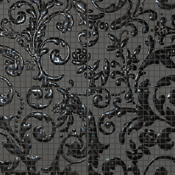 Fap Mosaici Dark Side Damasco Black Gloss de Fap Ceramiche | Mosaïques céramique
