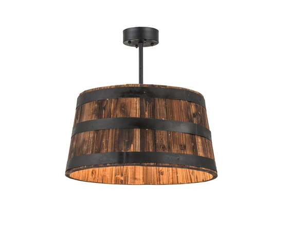 Whiskey Barrel Pendant Suspended Lights From 2nd Ave