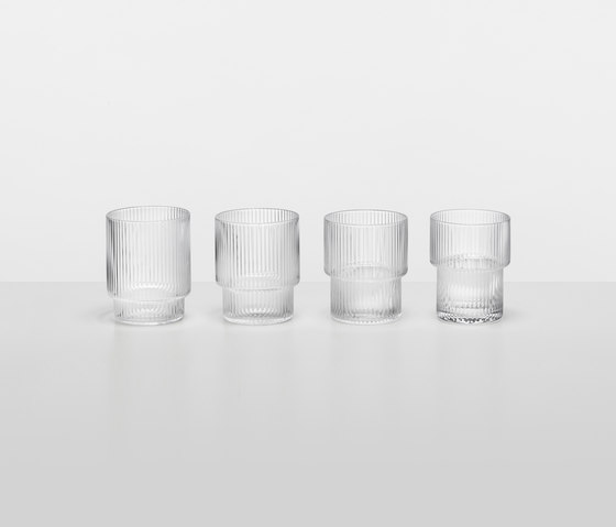 Ripple Glass (set of 4) by ferm LIVING | Glasses