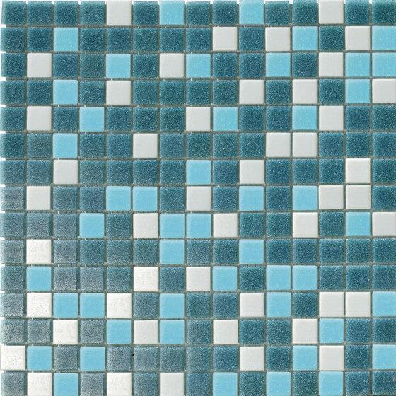 Cromie Aqua 20x20 Petrolio Mix di Mosaico+ | Mosaici vetro