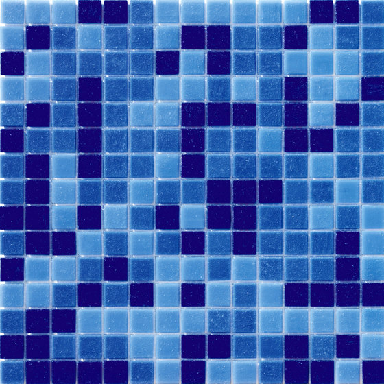 Cromie Aqua 20x20 Avio Mix by Mosaico+ | Glass mosaics