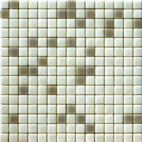 Cromie Aqua 20x20 Bianco Mix de Mosaico+ | Mosaïques verre
