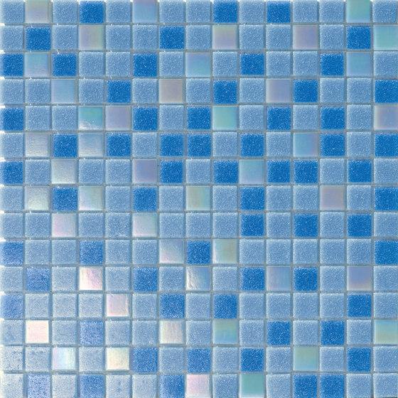 Cromie Aqua 20x20 Celeste Lux Mix di Mosaico+ | Mosaici vetro