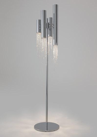 Sexy Crystals F4+4 de Ilfari   Luminaires sur pied