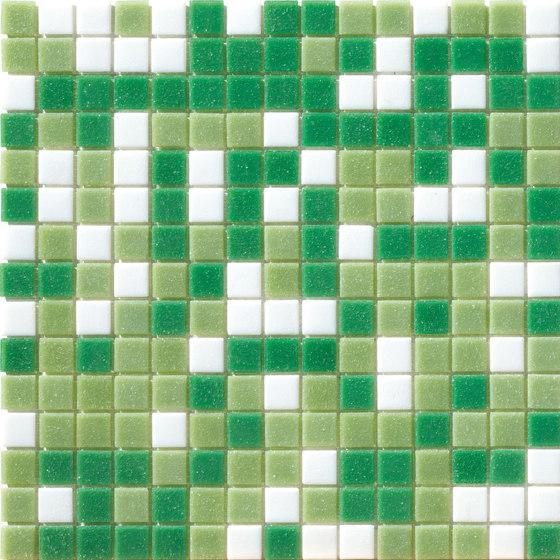 Cromie Aqua 20x20 Verde Mix di Mosaico+ | Mosaici vetro