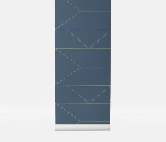 Wallpaper Lines - Dark Blue de ferm LIVING | Revestimientos de paredes / papeles pintados