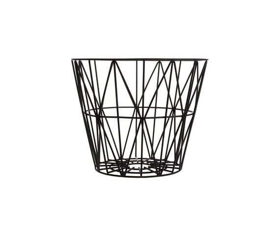 Wire Basket Small - Black by ferm LIVING | Waste baskets