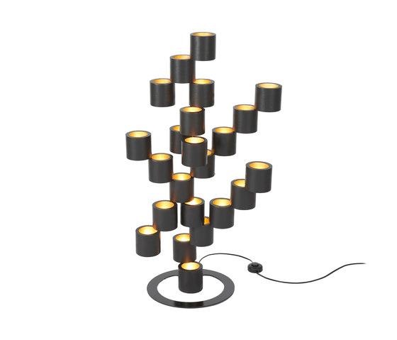 Twister black floor lamp de Tristan Frencken | Iluminación general