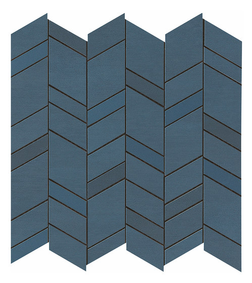 Mek blue mosaico chevron by Atlas Concorde | Ceramic tiles
