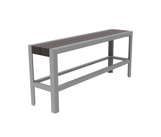 MLB1050B-BH-PBN Backless Bar Height Bench di Maglin Site Furniture | Sgabelli bancone